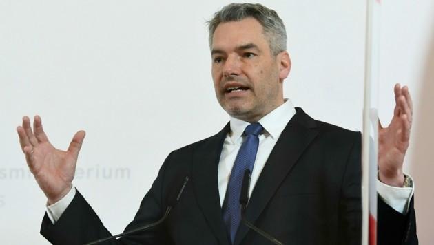 Innenminister Nehammer (Bild: APA/Helmut Fohringer)