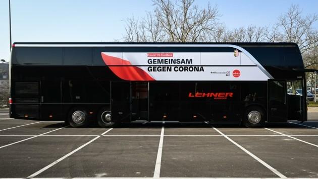 Der Corona-Testbus des Landes Oberösterreich (Bild: Alexander Schwarzl)