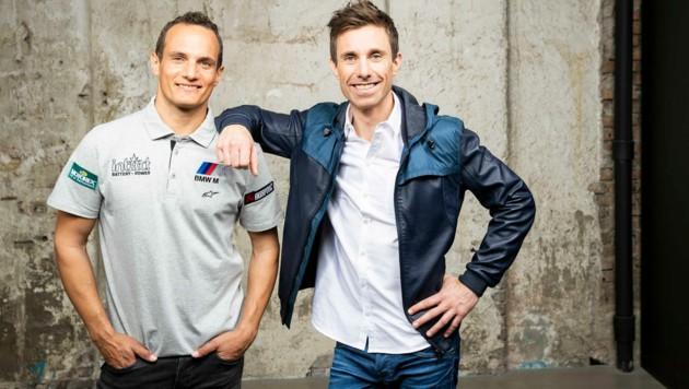 Das ServusTV-Kommentatoren-Duo Alex Hofmann (li.) und Christian Brugger (Bild: www.neumayr.cc)