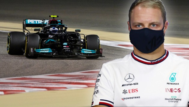 Mercedes-Pilot Valtteri Bottas (Bild: AFP, krone.at-grafik)