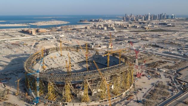 Die WM 2022 in Katar: Eine Baustelle (Bild: REUTERS)