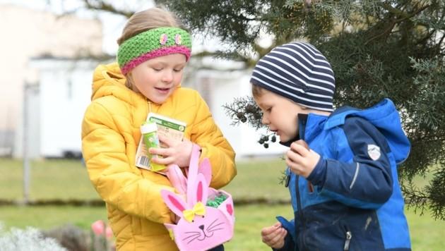 Für die Kinder ist es immer wieder ein Erlebnis: Die Suche nach den Osternestln. (Bild: Scharinger Daniel)