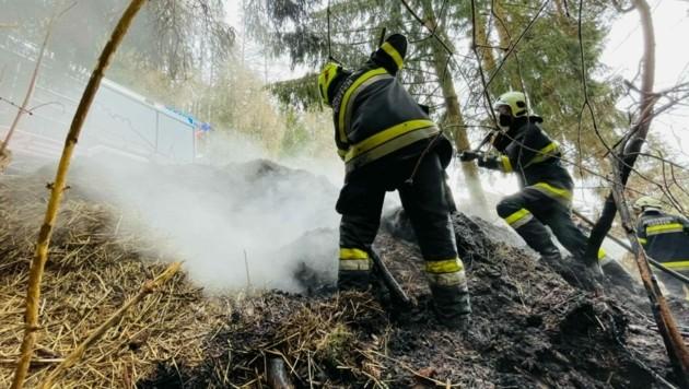 Rauchentwickung in St. Leonhard: Die Feuerwehren Griffen, Pustritz und Pölling standen im Einsatz (Bild: FF Griffen)