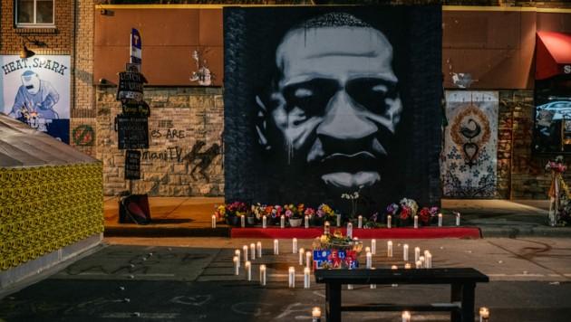In den USA lebt die Erinnerung an George Floyd auch nach dessen Tod weiter. (Bild: AFP/GETTY IMAGES/Brandon Bell)
