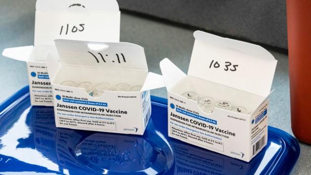 Der Impfstoff von Johnson & Johnson ist seit dem 11. März in der EU zugelassen. (Bild: APA/Getty Images via AFP/GETTY IMAGES/Stephen)