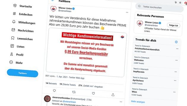 (Bild: Screenshot twitter.com/wienerlinien)