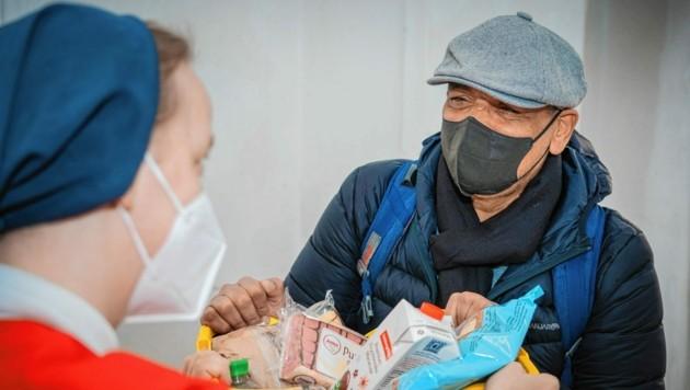 Danke der Spenden für die Corona-Nothilfe kann die Caritas in Not geratene Menschen unterstützen. (Bild: Caritas Kärnten)