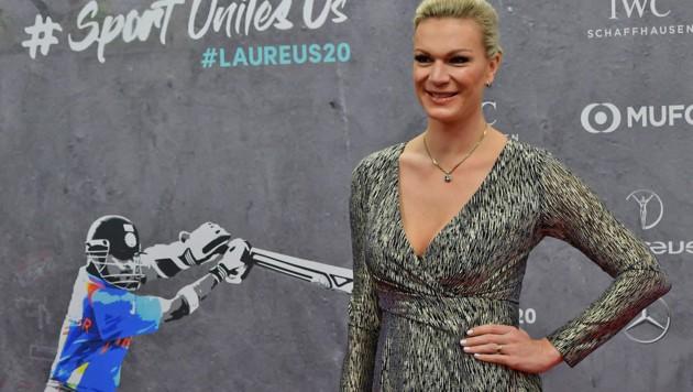 Maria Höfl-Riesch bei der Laureus-Award-Gala im Februar 2020 - ein Ski-Comeback wird's trotz eines einschlägigen Facebook-Postings wohl nicht geben. (Bild: APA/AFP/Tobias SCHWARZ)