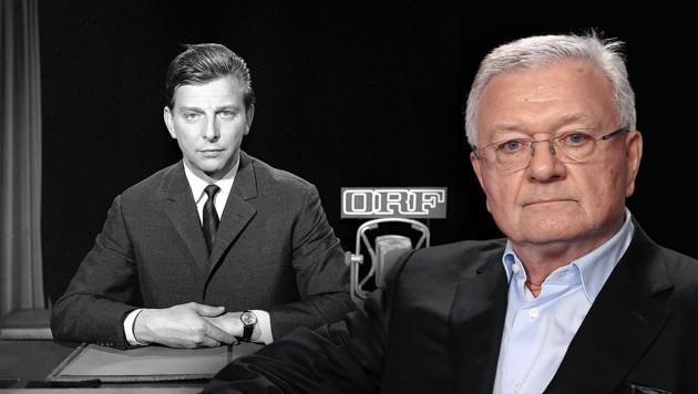 """""""Krone""""-Außenpolitik-Doyen Kurt Seinitz (re.) über den Tod von Journalisten-Legende Hugo Portisch (Bild: ORF, Martin Jöchl, Krone KREATIV)"""