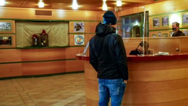 """Ein Sanierungsfall? Das Foyer im """"Haus des Gastes"""" in Obertauern. (Bild: Gerhard Schiel)"""
