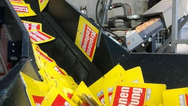 Zeitungsständer-Platten können völlig recycelt werden. (Bild: M2Consulting)