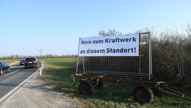 Die Gegnerschaft des Kraftwerk-Projekts mobilisiert bereits. (Bild: Huber Patrick)