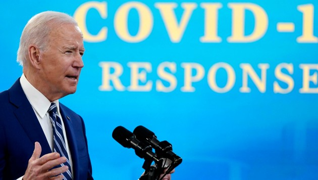 """""""Der Krieg gegen Covid-19 ist noch lange nicht gewonnen"""": US-Präsident Joe Biden (Bild: AP)"""