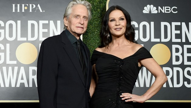 Michael Douglas und Catherine Zeta-Jones (Bild: APA/Dimitrios Kambouris/Getty Images for Hollywood Foreign Press Association/AFP)