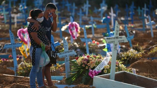 Brasilien ist zum globalen Epizentrum der Covid-19-Pandemie geworden. (Bild: AFP/Michael DANTAS)