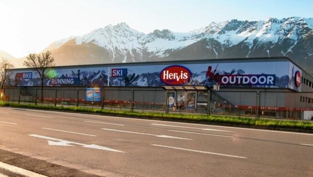 Die Tore des neuen Stores öffneten am 1. April. (Bild: Hervis/Karg)