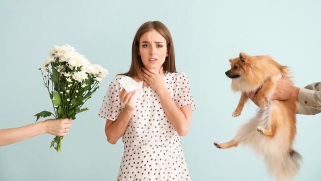 Etliche haben bei Kontakt mit Tieren oder Pflanzen Beschwerden. (Bild: Pixel-Shot/stock.adobe.com)