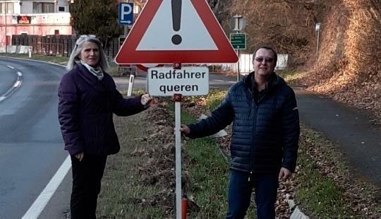 Ortschef Schmöger, Vizebürgermeisterin Irene Mantler. (Bild: Gemeinde Rosenburg-Mold)