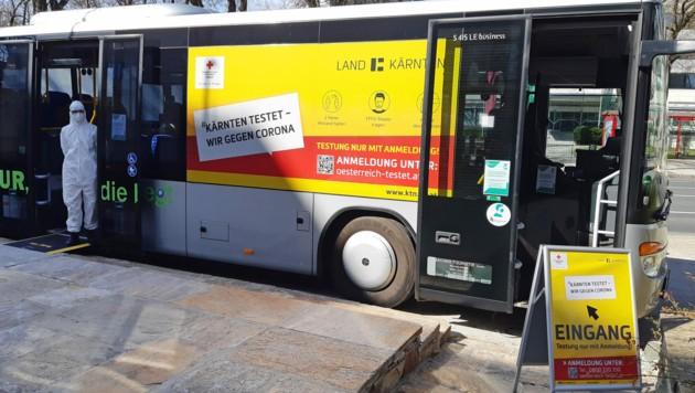 In Kärnten nahmen Anfang des Monats drei Testbusse den Betrieb auf. (Bild: APA/Nina Töchterle)