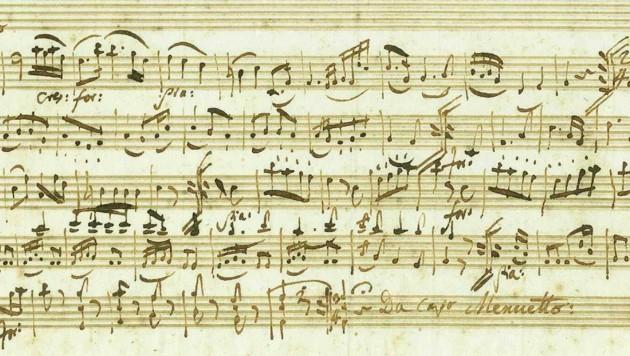 Das gefundene Mozart-Manuskript (Bild: J.A. Stargardt GmbH & Co. KG)