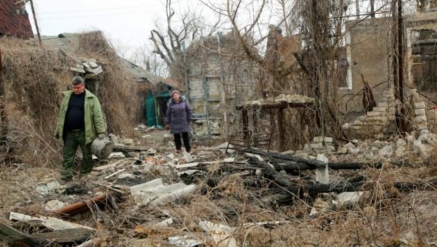 In der Ostukraine droht der Konflikt zwischen der Ukraine und Russland erneut zu eskalieren. (Bild: AP)