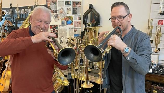 Toni und Stefan Maier aus Bärnbach sind mit ihren Trompeten weltweit ein Erfolgsgarant (Bild: Ernst Fuchs)
