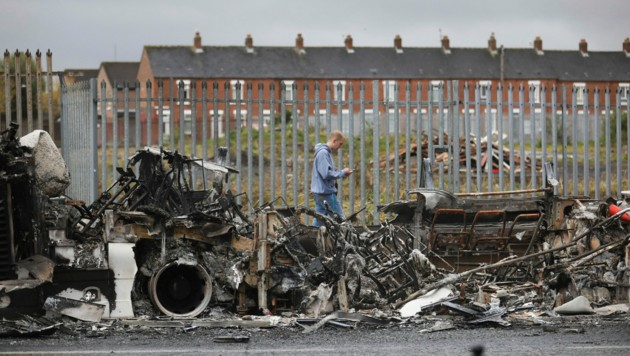 West Belfast am 8. April 2021 (Bild: AP Photo/Peter Morrison, File)