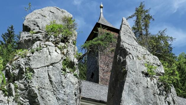 Die Wallfahrtskirche Maria Klobenstein liegt nördlich der Gemeinde Kössen – kurz vor der Grenze zu Bayern. (Bild: Susanne und Walter Elsner)
