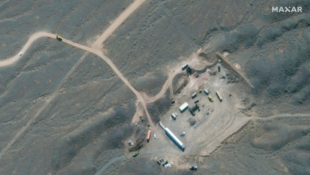 Satellitenaufnahme der Atomanlage (Bild: 2021 Maxar Technologies / AFP)