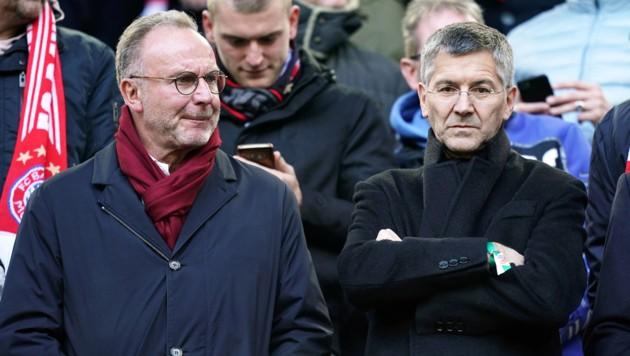 Karl-Heinz Rummenigge (li.) und Herbert Hainer (Bild: GEPA)