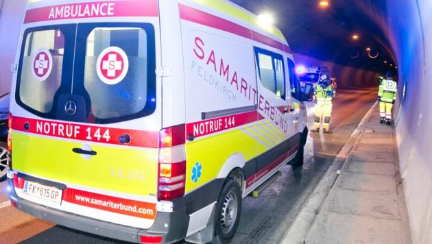 Am Sonntagabend verursachte ein Geisterfahrer im Ambergtunnel einen Auffahrunfall. (Bild: Mathis Fotografie)