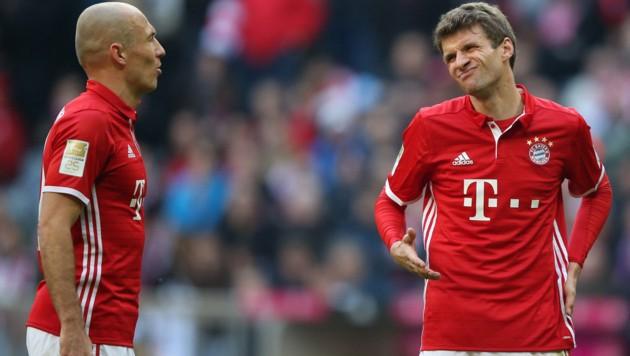 Arjen Robben (li.) und Thomas Müller (Bild: GEPA)
