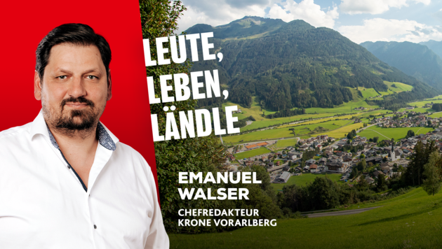 Krone Vorarlberg Chefredakteur Emanuel Walser informiert Sie über die Nachrichten aus dem Ländle. (Bild: mathis.studio)