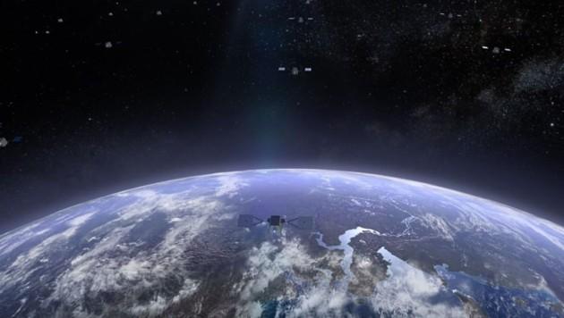 Illustration von Oneweb: In Zukunft sollen Tausende Satelliten an jedem Ort des Planeten Internetzugang bieten. (Bild: instagram.com/Oneweb)
