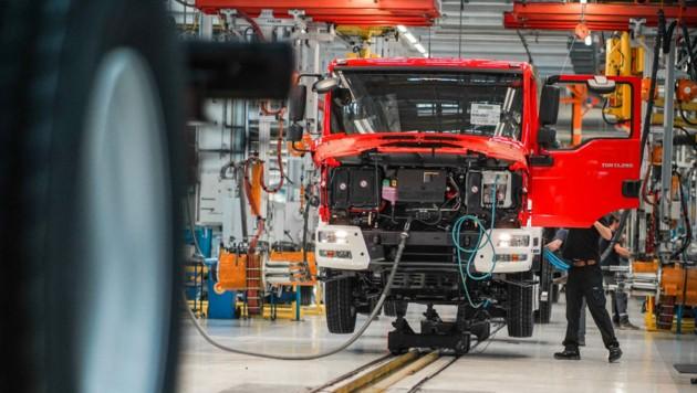 Lkw-Hersteller MAN will das Werk in Steyr bis Ende 2023 schließen. (Bild: Markus Wenzel)