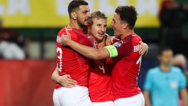 Auch Dragovic freut sich. (Bild: GEPA pictures)