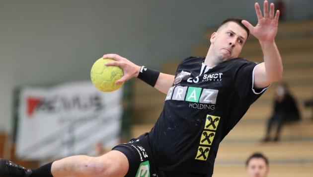 Nemanja Belos muss mit Graz in die Relegation. (Bild: GEPA pictures)