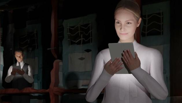 """Ein multimediales """"Supergau""""-Chorkonzert: Gesang und Licht im Cyberspace. (Bild: Stefano D´Alessio)"""