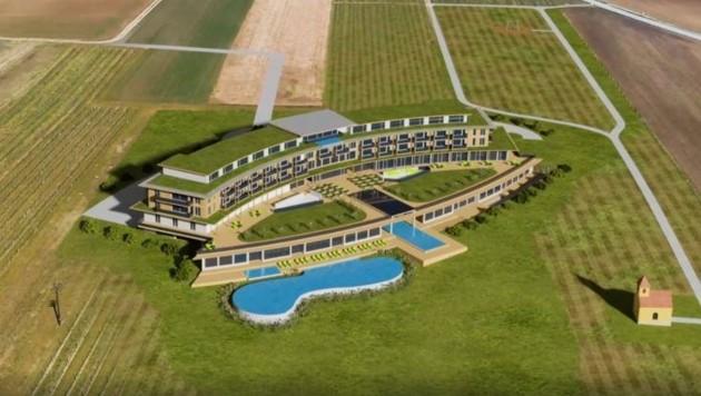 Auf einem zwei Hektar großen Areal wird das Vier-Sterne-Resort in Mistelbach errichtet. (Bild: spusu Life Resort)