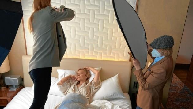 """Elina Garanča über """"Master Lin"""": """"Ich lege viel Wert auf makellose Haut. Und wenn eine Marke gleichermaßen die Ansprüche an Natur und Luxus erfüllt, dann überzeugt sie."""" (Bild: Sarah Katharina/Master Lin)"""