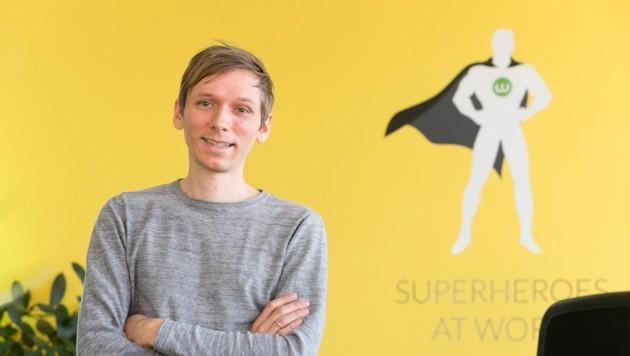 Alexander Bitsche ist CEO von Webgears und als einziger der drei Gründer noch operativ tätig. (Bild: Mathis Fotografie)
