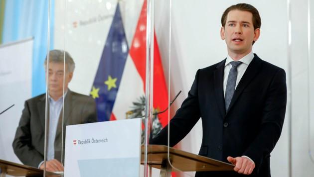 Bundeskanzler Sebastian Kurz (ÖVP) ist davon überzeugt, dass die Durchimpfung der Bevölkerung schneller voranschreiten wird als zunächst angenommen. (Bild: AP)