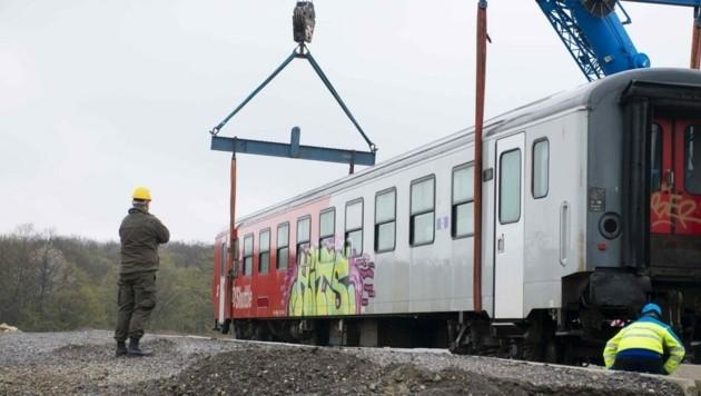 Vier Waggons überließen die ÖBB dem Bundesheer. (Bild: Schulter Christian)