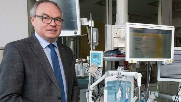 """Wir setzen auf absolute Spitzenmedizin"", betont Stephan Pernkopf. (Bild: NLK)"