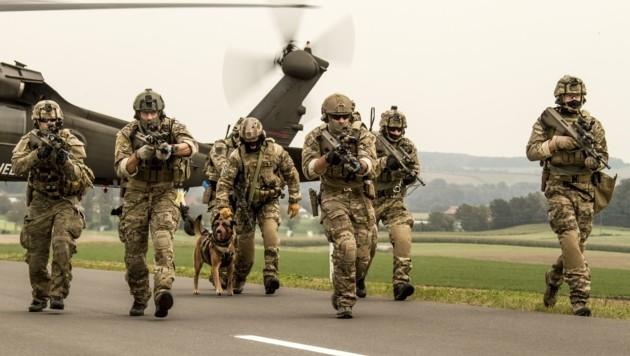 Das Jagdkommando des Bundesheeres probt an drei Tagen in St. Pölten für den Ernstfall (Bild: Jay Jones)