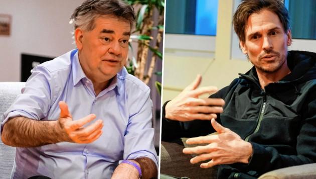 Vizekanzler Werner Kogler (li.) und Felix Gottwald (Bild: urbantschitsch mario)