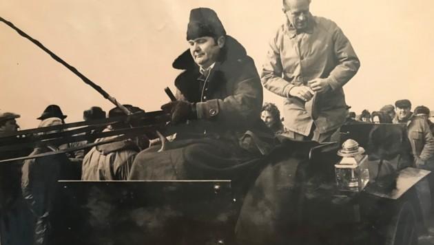 Prinz Philip fuhr mit Rudolf Joch rund um die Lange Lacke (Bild: Archiv Joch)