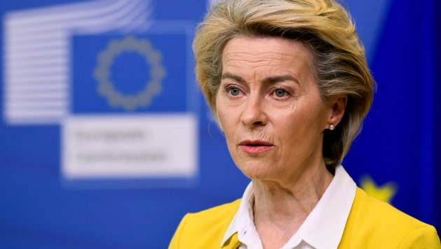 EU-Kommissionspräsidentin Ursula von der Leyen (Bild: AP)