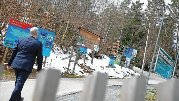 Keutschach: Plakatständer müssen weg. (Bild: Evelyn Hronek Kamerawerk)
