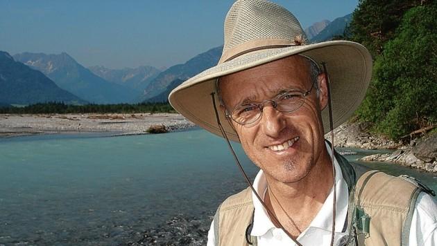 Flussbotschafter Toni Innauer setzt sich für die Isel ein. (Bild: WWF/Toni Vorauer)